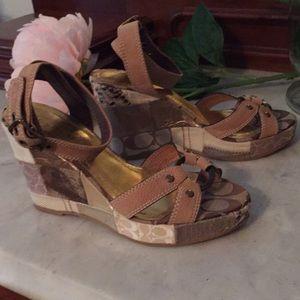 "Coach Wedge size 6 (3"" heel)"
